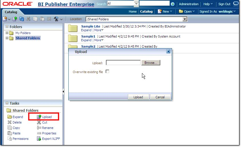 OBIEE Solution]Deployment of OBIEE 11G BI Publisher reports